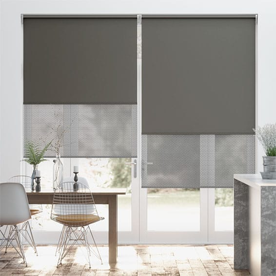 Double Roller Victorian Grey Roller Blind