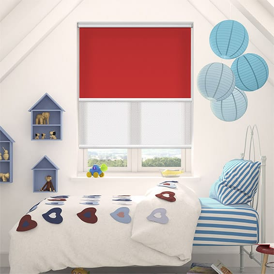 Double Roller Vivid Red Blind