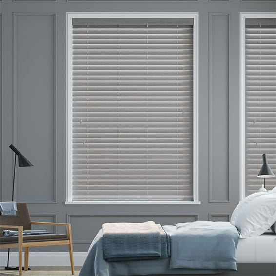 Dover Grey Faux Wood Blind - 50mm Slat