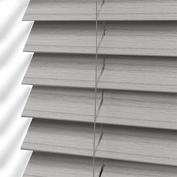 Dover Grey Faux Wood Blind 50mm Slat