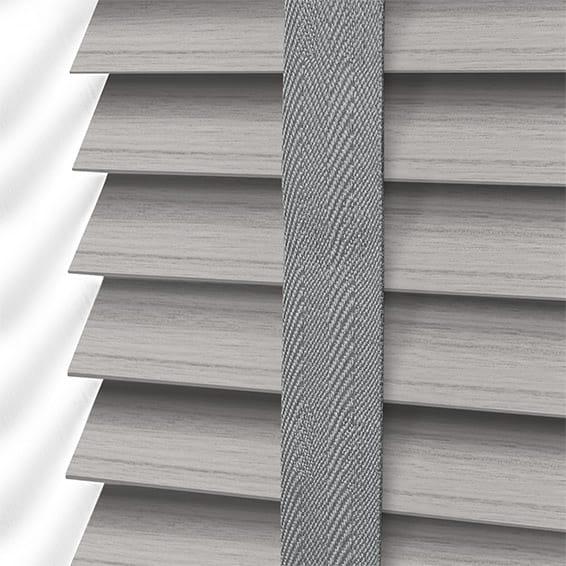 Dover Grey Amp Grey Faux Wood Blind 50mm Slat