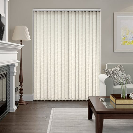 Drifting Leaf Rich Cream Vertical Blind