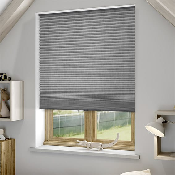 Duoshade Cordless Grey Weave Thermal Blind