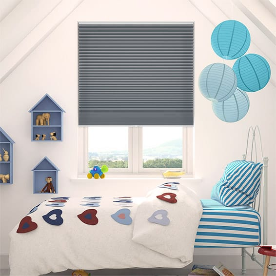 DuoShade Cordless Slate Blue Thermal Blind