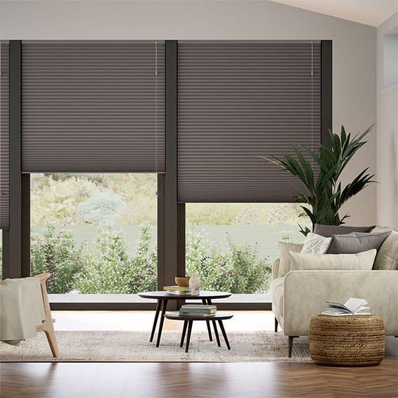 DuoShade Dark Grey Thermal Blind