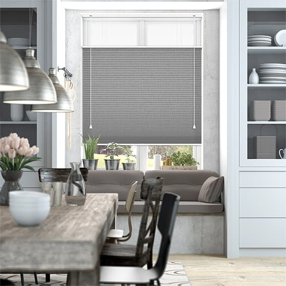 DuoShade Grey Weave Top Down/Bottom Up Thermal Blind