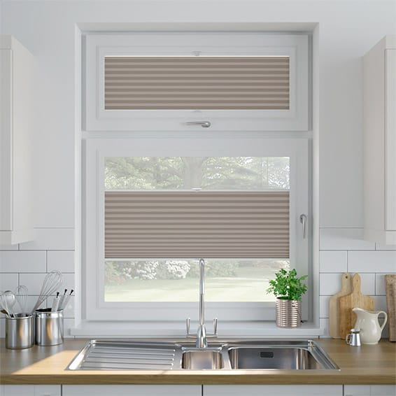 DuoShade Mushroom  PerfectFIT Thermal Blind