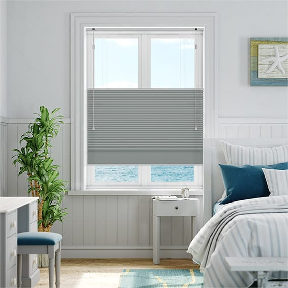 DuoShade Nickel Grey Top Down/Bottom Up Thermal Blind