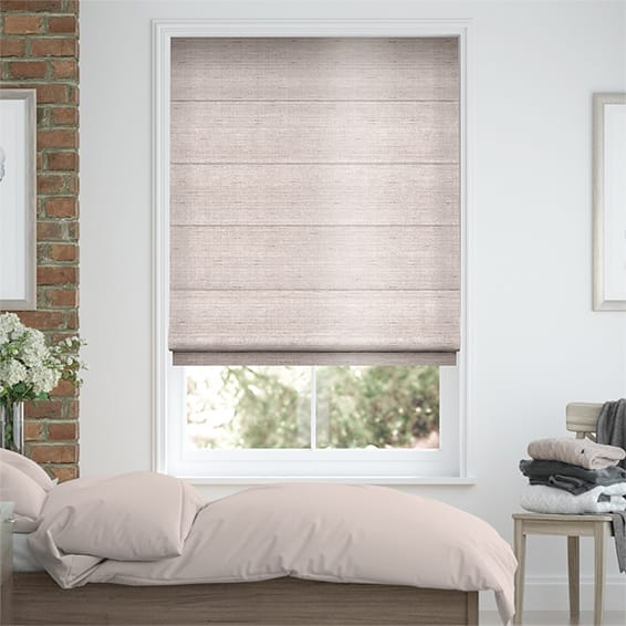 Bedroom Blinds 48go™ Elegant Faux Silk Roman Blinds Mesmerizing Roman Blinds Bedroom Collection