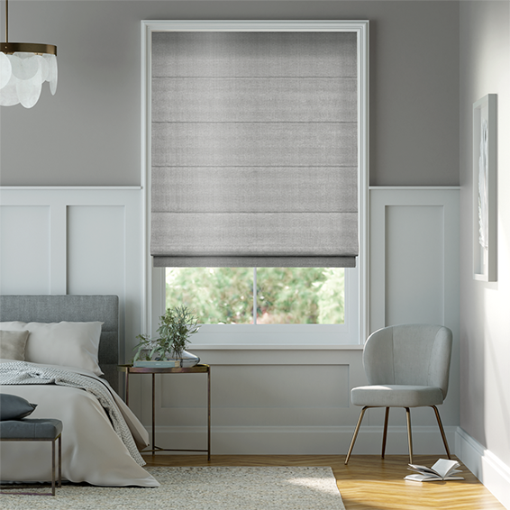 Grey Silver Roman Blinds Sumptuous Neutral Shades Of Silver Grey Awesome Roman Blinds Bedroom Ideas Design