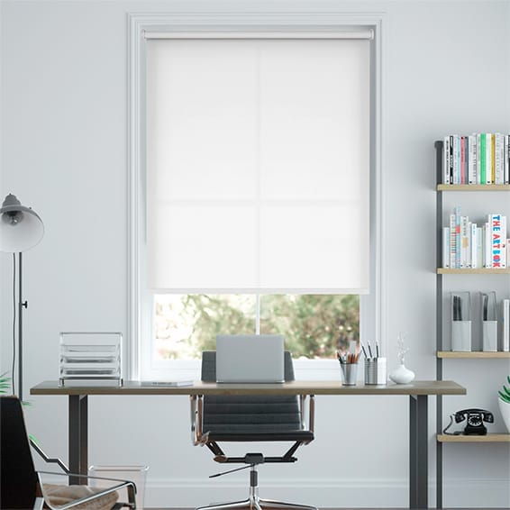 Eco-Friendly Dimout Pure White Roller Blind