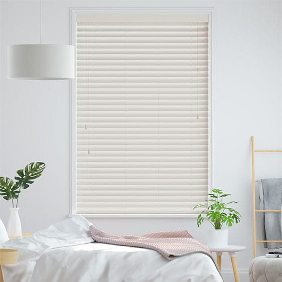 Eggshell Faux Wood Blind - 50mm Slat