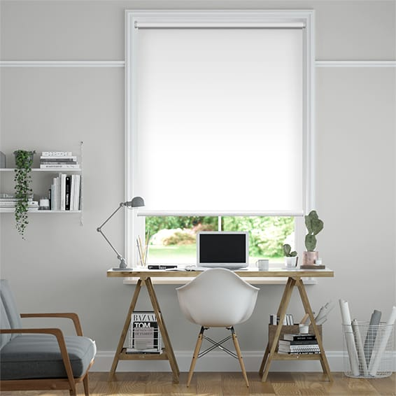 Electric Blackout Titan Pristine White  Roller Blind