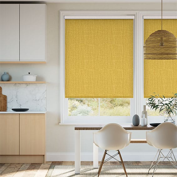 Electric Choices Cavendish Mimosa Gold Roller Blind