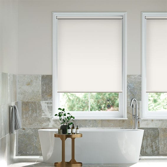 Electric Blackout Titan Alabaster Roller Blind