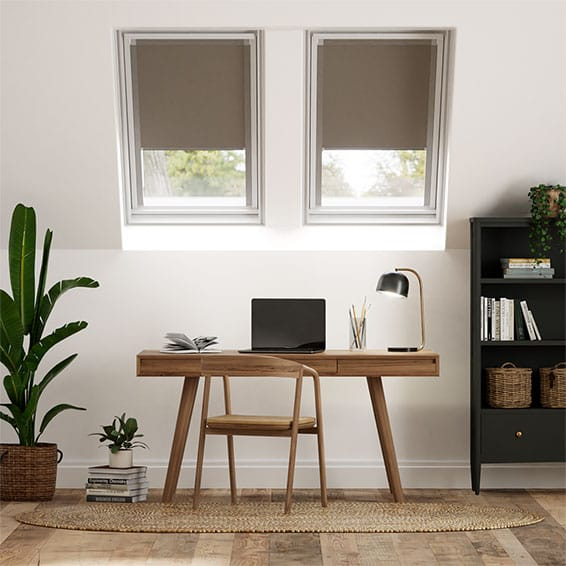 Elements Brown Blackout Blind for VELUX ® Windows