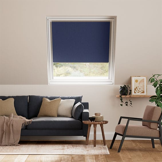 Elements Royal Blue Blackout Blind for Fakro Windows