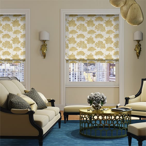 Enchantment Mustard Roman Blind