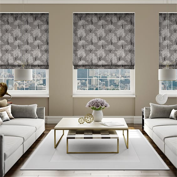 Enchantment Pewter Roman Blind