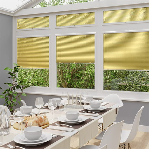 Energetic Yellow Perfect Fit Venetian Blind