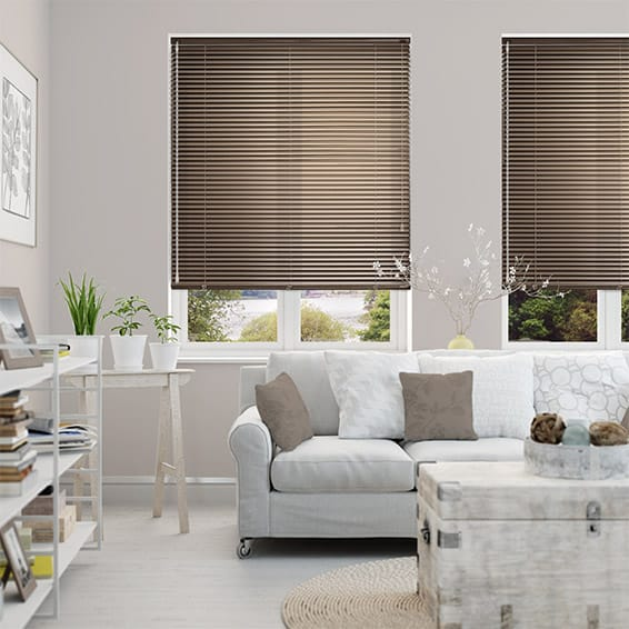 Essence Metallic Brown Venetian Blind - 25mm Slat