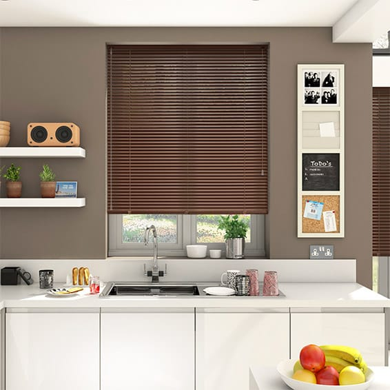 Essence Nut Brown Venetian Blind - 25mm Slat