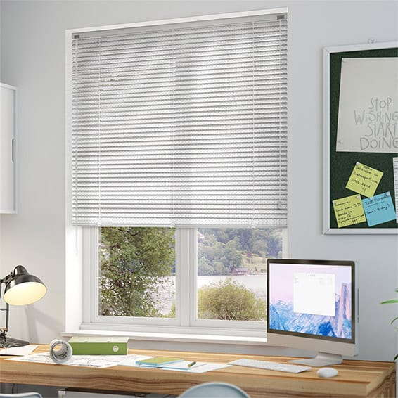 Premium Perforated White Venetian Blind 25mm Slat