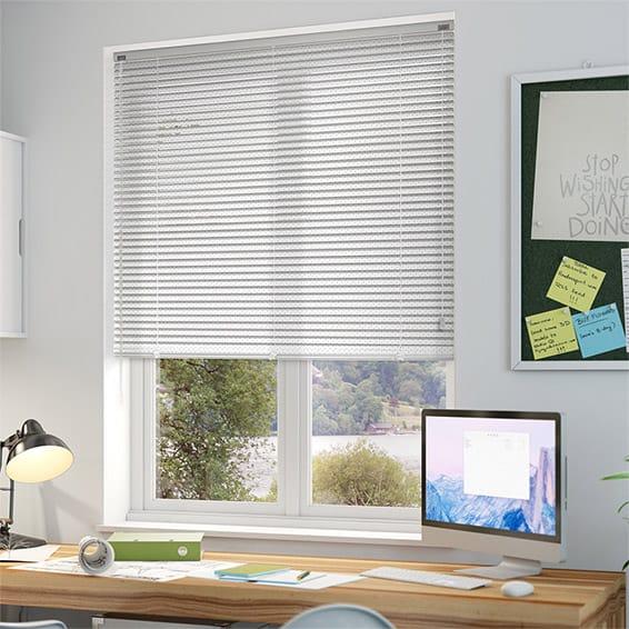 Conservatory Blind Ideas >> Premium Perforated White Venetian Blind - 25mm Slat