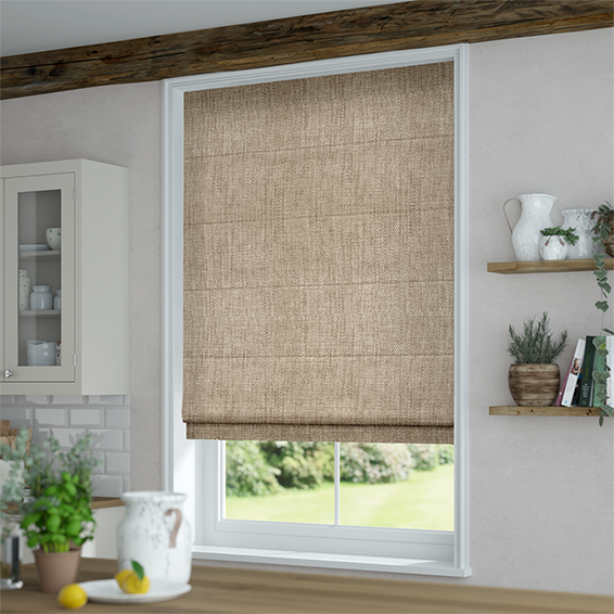 Conservatory Blind Ideas >> Eternity Linen Biscuit Roman Blind