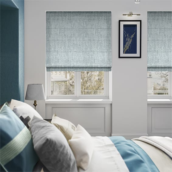 Eternity Linen Blue Mist Roman Blind