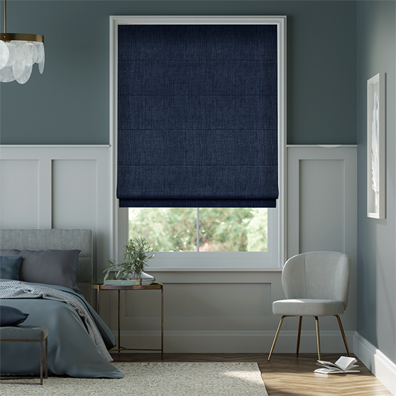 Eternity Linen Twilight Blue Roman Blind