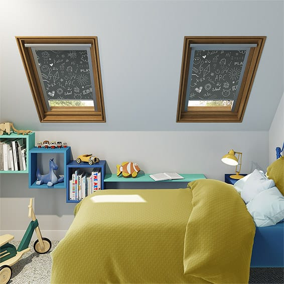 Expressions Chalk Board Blackout Blind for Dakstra/Rooflite Windows