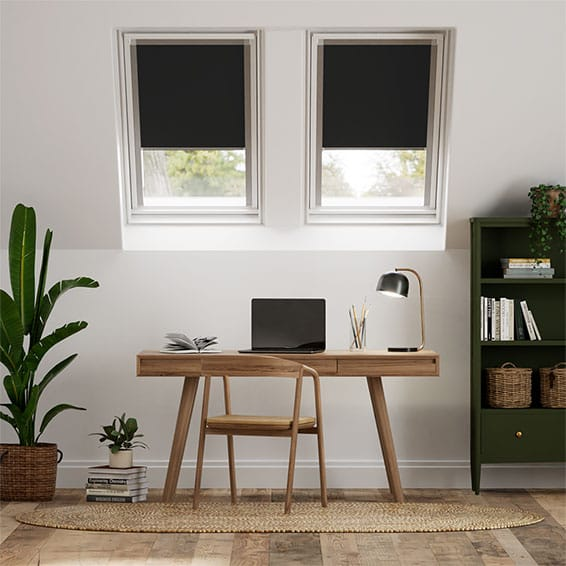 Expressions Eclipse Black Blackout Blind for Dakstra/Rooflite Windows