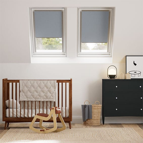 Expressions Fjord Blue Blackout Blind for Dakstra/Rooflite Windows