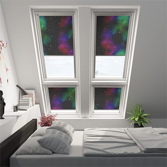 Expressions Interstellar Blackout Blind for Dakstra/Rooflite Windows