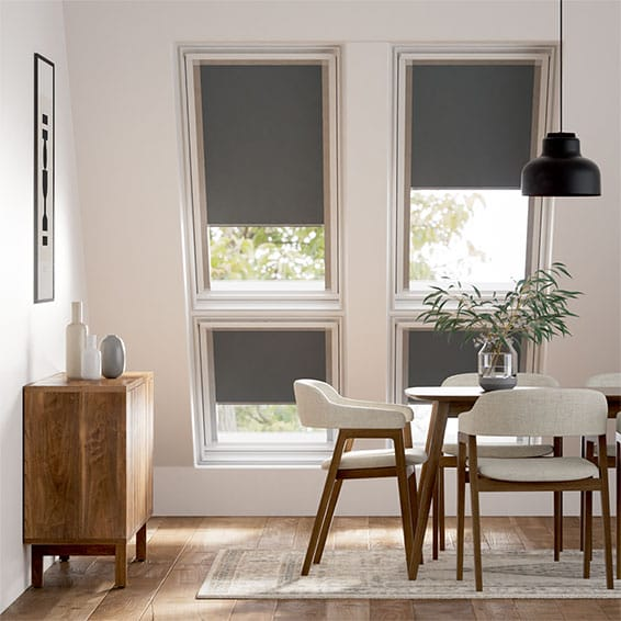 Expressions Iron Grey Blackout Blind for Dakstra/Rooflite Windows