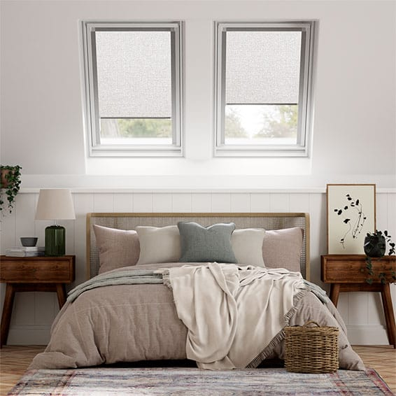 Expressions Shimmering Silver Blackout Blind for Fakro ® Windows