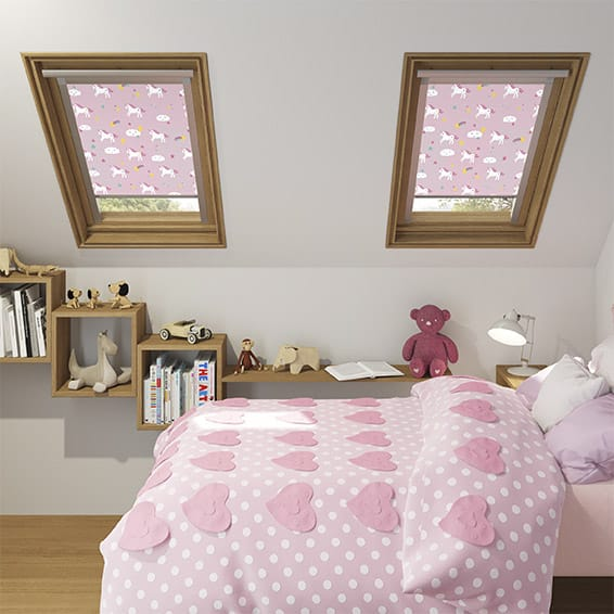 Expressions Unicorn Dreams Pink Blackout Blind for VELUX ® Windows