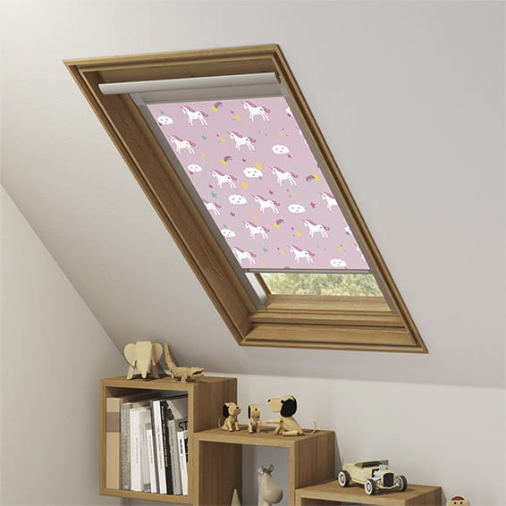 Expressions Unicorn Dreams Pink Blackout Blind For Velux Windows