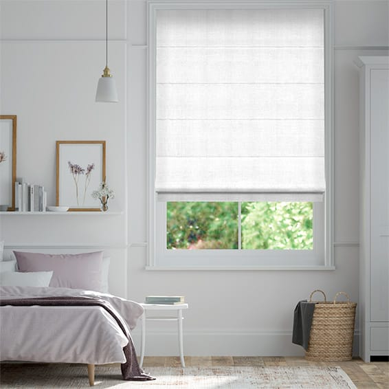 Felicity True White Roman Blind