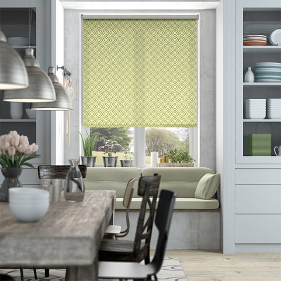 Fretwork Apple Roller Blind