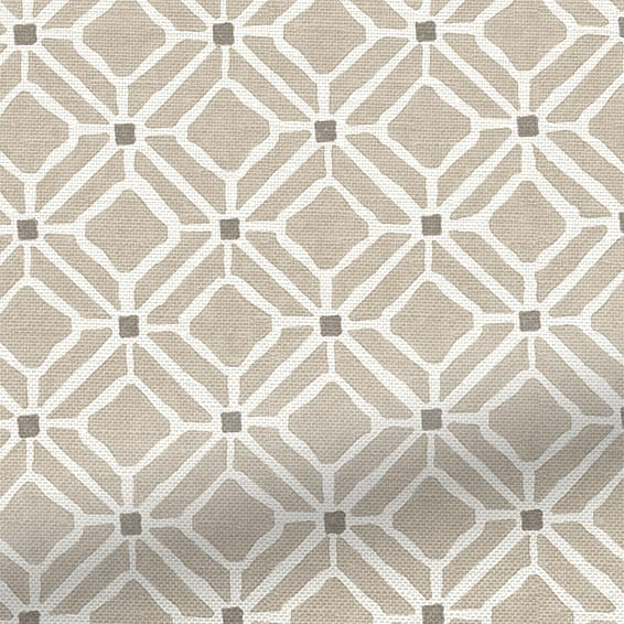 Sanderson Home Fretwork Linen Roman Blind Stylish