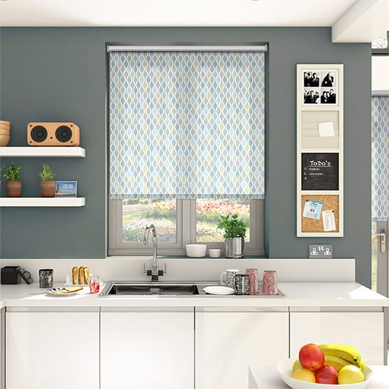 Funky Shapes Sky Roller Blind