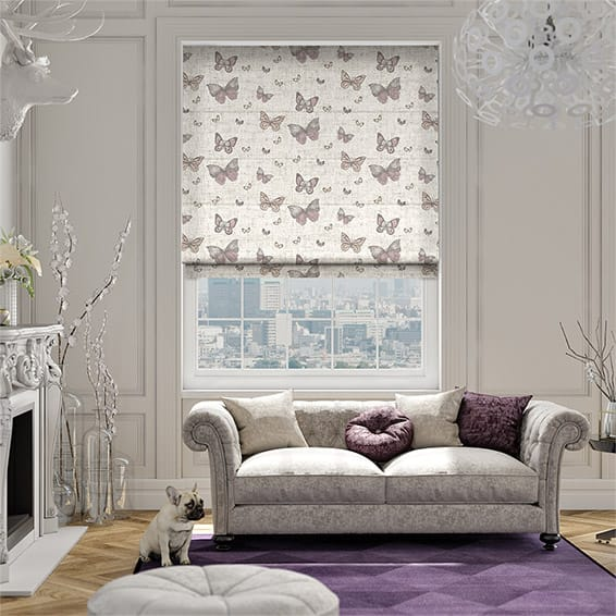 Gentle Wings Linen Lollipop Roman Blind
