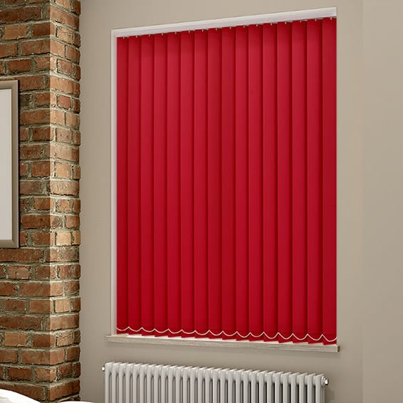 Red Vertical Blinds Fiery And Bright Vertical Blinds