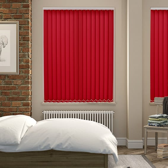 Valencia Simplicity Red Vertical Blind