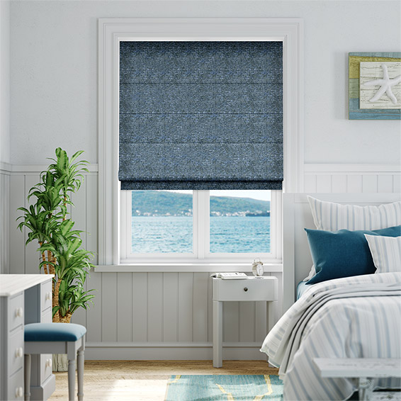 Glencoe Twilight Blue Roman Blind