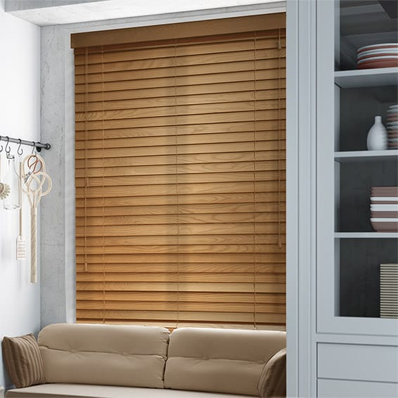 Golden Oak Wooden Blind 50mm Slat