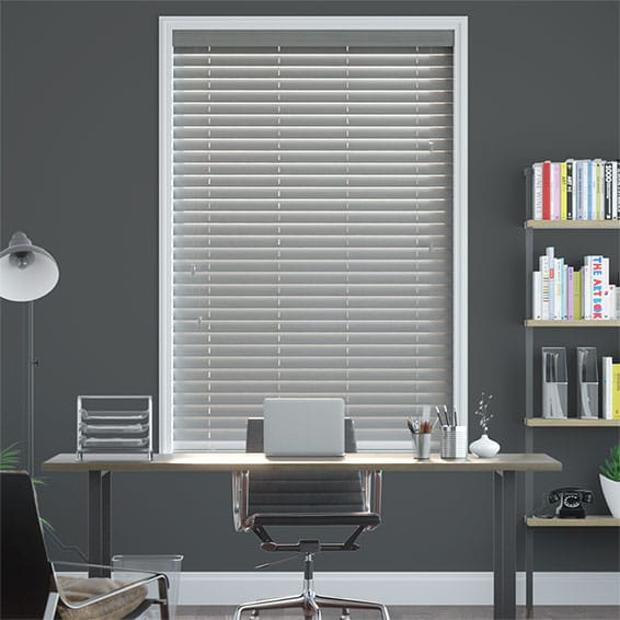 Granite Madera Faux Wood Blind - 50mm Slat