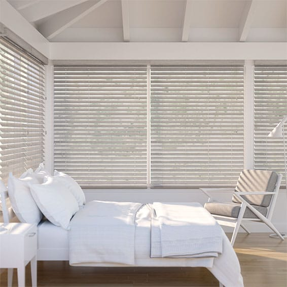 Metropolitan Grey Mist Wooden Blind - 50mm Slat